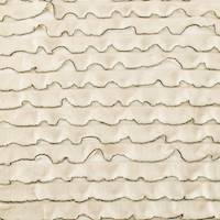 *2 YD PC--Beige/Black Ruffle Knit