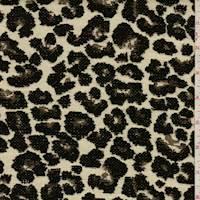 *1 YD PC--Beige/Multi Leopard Chenille Jacquard