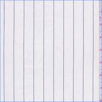 *2 YD PC--White/Black Pinstripe Cotton Shirting