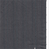*1 1/2 YD PC--Charcoal/Teal Embroidered Suiting