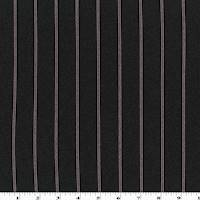 *4 3/8 YD PC--Black/Red/White Rayon Blend Stripe Double Knit