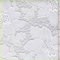 White Floral Pleather Mesh Lace