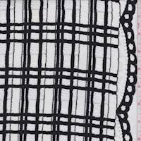 White/Black Plaid Jacquard Mesh