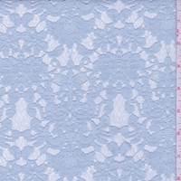 Pale Blue Bonded Floral Lace