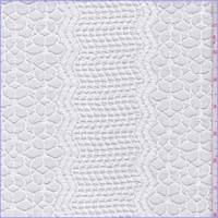 Optic White Floral Wave Mesh Lace