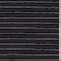 Black Eyelash Stripe Polyester