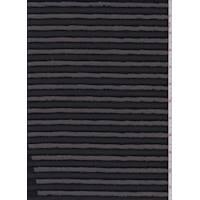 Black Eyelash Stripe Polyester
