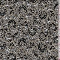 Black/Antique Gold Boucle Scroll Lace