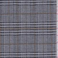 Black/White Houndstooth Plaid Double Knit