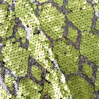Peridot Green/Silver Diamond Sequin Mesh