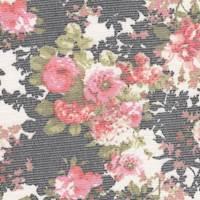 *2 5/8 YD PC-- Floral Print Nylon Mesh