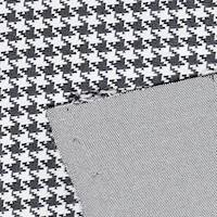*4 7/8 YD PC--Black/Ivory Houndstooth Knit