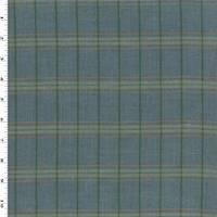 *1 1/4 YD PC--Blue/Forest Green/Multi Linen Plaid