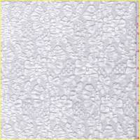 *2 3/4 YD PC--White Floral Puckered Lace
