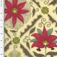 *2 YD PC - Designer Multicolor Floral Diamond Print Home Decorating Fabric