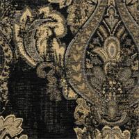 *3 1/4  YD PC - Black/Beige Chenille Jacquard Mercola Home Decorating Fabric