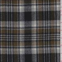 *2 3/4 YD PC--Grey/Tobacco/Black Plaid Flannel Jacketing
