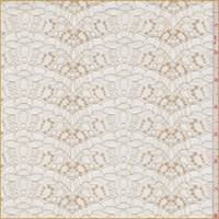 Whisper White/Gold Ribbon Scallop Lace