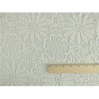 *2 1/4 YD PC--Pearl White Floral Sheer Jersey Burnout