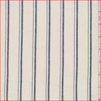 Buttercream/Navy Stripe Stretch Twill