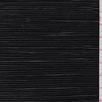 Pure Black Pleated Polyester
