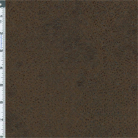 *6 7/8 YD PC - Walnut Brown Faux Leather Home Decorating Fabric