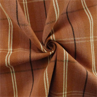 *6 YD PC - Rust Red Michael Jon Gig Harbor Plaid Decorating Fabric