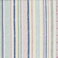 *2 YD PC--Limestone Multi Stripe Jersey Knit