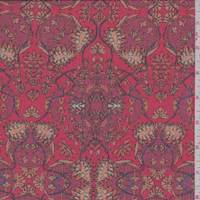 Fire Red Paisley Medallion Chiffon