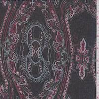Black/Berry Multi Scroll Chiffon