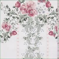 White Floral Vine Georgette