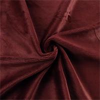 *2 1/2 YD PC - Burgundy Red Extra Plush Velvet Home Decorating Fabric