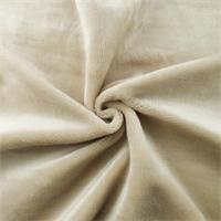 *2 YD PC - Ivory Extra Plush Velvet Home Decorating Fabric