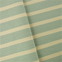 *2 1/2 YD PC - Stone Teal/Ivory Twill Stripe Home Decorating Fabric