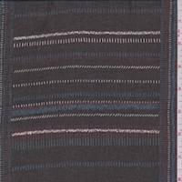 Black Multi Stitch Print Polyester Chiffon