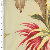 *3 YD PC - Designer Cotton Multi Serenity Palm Print  Decorating Fabric