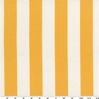 *5 YD PC - Yellow/White Cotton Stripe Canvas Home Decorating Fabric