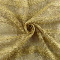 *8 1/2 YD PC - Golden Beige Rayon/Linen Boucle/Chenille Stripe Netting