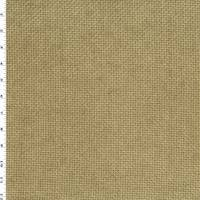*1 YD PC - Dark Sand Beige Chenille Basket Jacquard Home Decorating Fabric