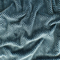 *2 1/2 YD PC - Black/Grey Herringbone Faux Fur