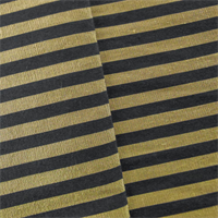 *1 YD PC - Gold/Navy JR Scott Silk Stripe Home Decorating Fabric