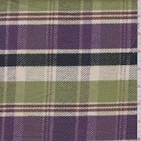 Lime/Plum Plaid Twill Jacketing