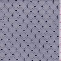 Dark Navy Diamond Lattice Mesh