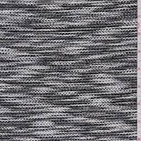 Black/White Combo Boucle Knit