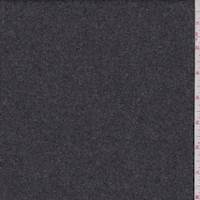 Heather Charcoal Wool Flannel Suiting