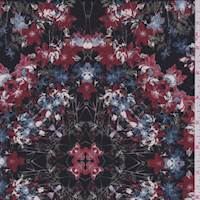 Black Multi Floral Kaleidoscope Georgette