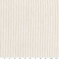 *1 1/2 YD PC--Sand Beige/White Stripe Linen Blend