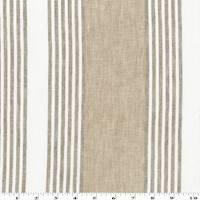*4 1/4 YD PC--Beige/Brown/White Stripe Linen Blend