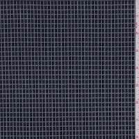 *1 1/2 YD PC--Dark Navy Grid Double Knit