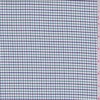 *1 5/8 YD PC--White/Kelly/Navy Check Cotton Shirting